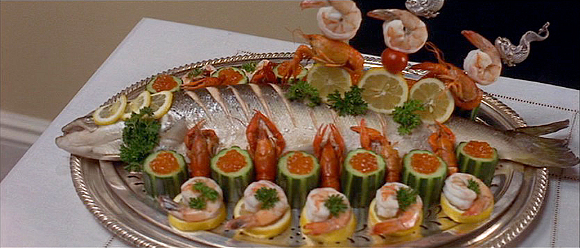 (above) The salmon is for the second course.