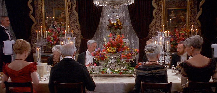 (above) I'm pretty sure that the two seated right in front of the centerpiece are placed far apart so that the audience can have an unobstructed view of this monumental flower arrangement.