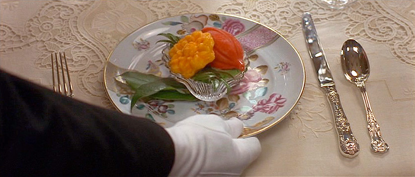 (above) Sherbet was served in between courses to cleanse the palate.