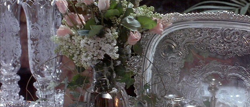 (above) This still and the following six are of May and Newland's wedding gifts.