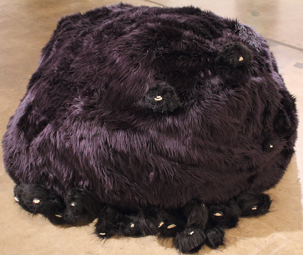 (above) Margaret Meehan, 'Pelt,' 2010. Mixed media, faux fur, prosthetic teeth, 30 x 49 x 50 inches