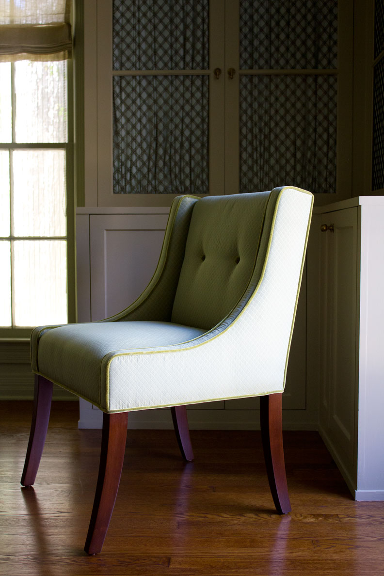 (above) The entire dining chair in profile
