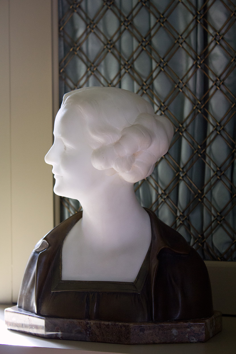 She was advertised as a rare 1920's bronze and Carrara marble bust.