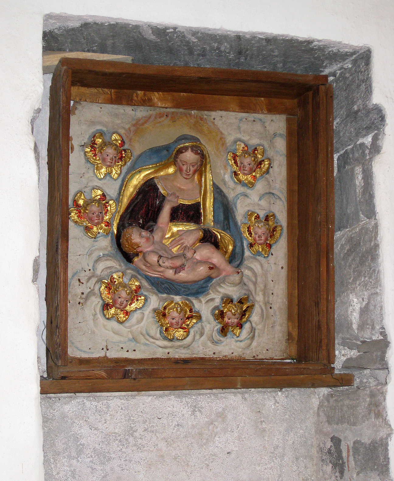 (above) I don't remember where the above piece was located within the church, but it is beautiful.