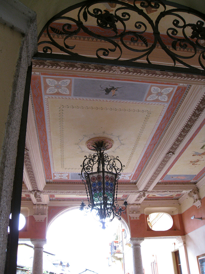 (above) I'm not sure which building this belongs to, but it is in the Piazza Motta in Orta San Giulio, Lake Orta.