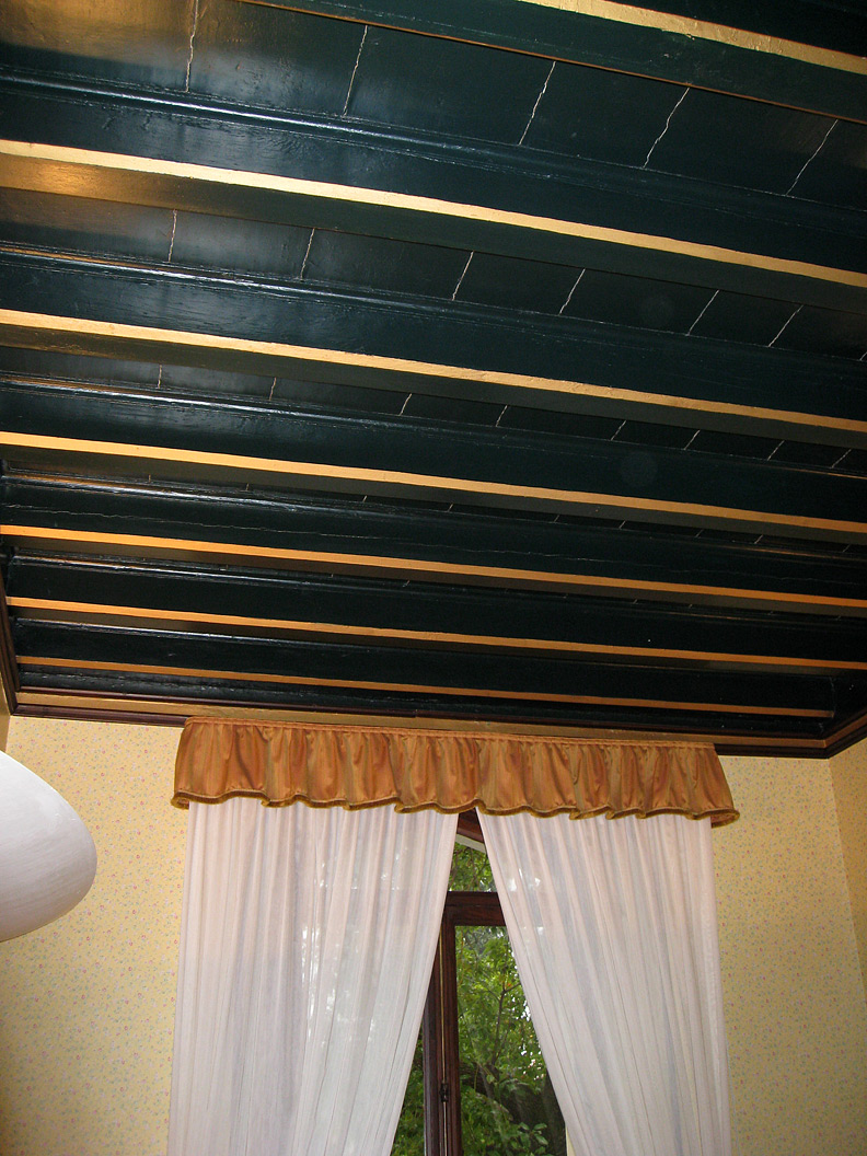 (above) And this humble ceiling belongs to my little hotel room at Hotel Villa Giulia on Lake Garda. I spent four days here after the ICAA tour was over.