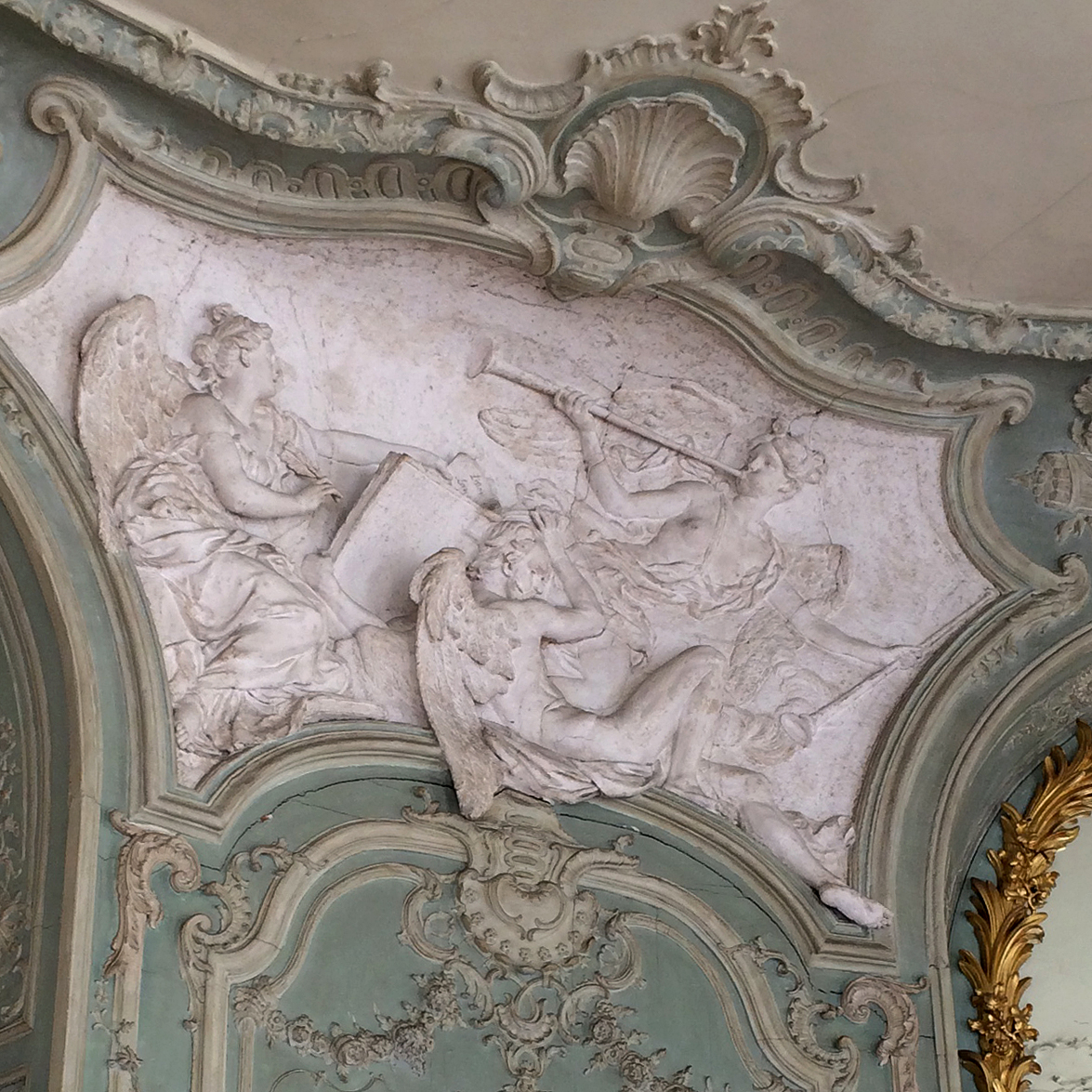 Hôtel de Soubise, ceiling detail of the Prince's apartment on the ground floor.