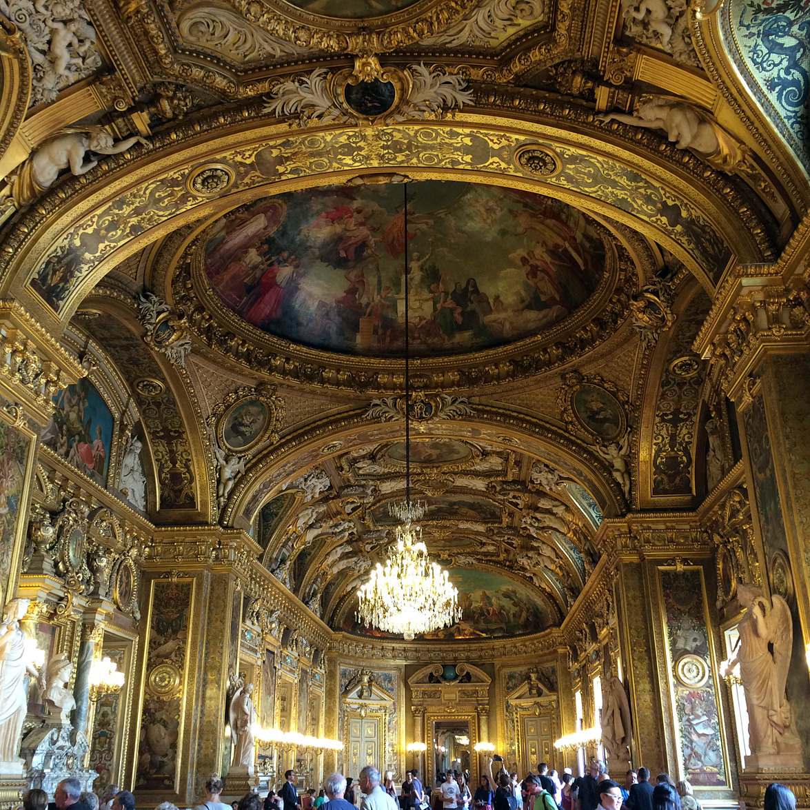 (above) In the 1850s, at the request of Emperor Napoleon III, Gisors created the highly decorated Salle des Conférences (inspired by the Galerie d'Apollon of the Louvre), which influenced the nature of subsequent official interiors of the Second Empire, including those of the Palais Garnier.